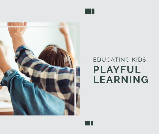 Education Program Students in Classroom Facebook Modelo de Design