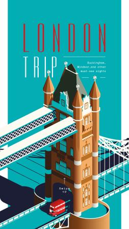 London Bridge travelling spot Instagram Storyデザインテンプレート