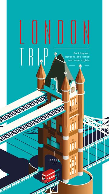 London Bridge travelling spot Instagram Story Modelo de Design