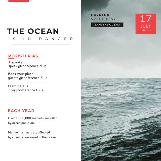 Plantilla de diseño de Boynton conference Ocean is in Danger Instagram