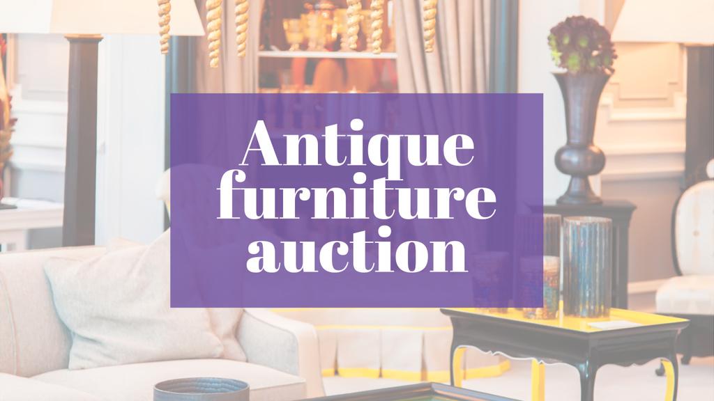 Antique Furniture Auction Vintage Wooden Pieces | Youtube Channel Art — Створити дизайн