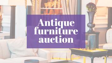 Antique Furniture Auction Vintage Wooden Pieces | Youtube Channel Art