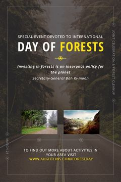 International Day of Forests Event Forest Road View | Tumblr Graphics Template