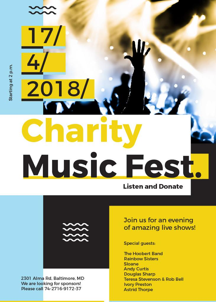 Charity Music Fest — Create a Design