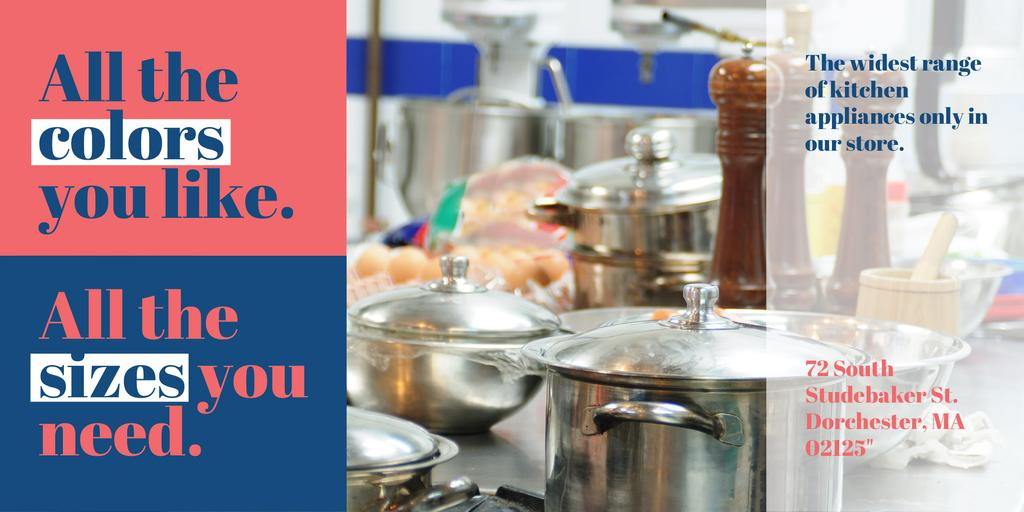 Kitchen appliances store Offer Twitter Modelo de Design