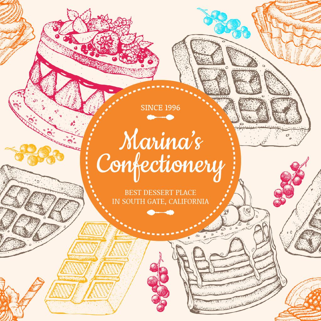 Sweet Cakes Illustrations — Modelo de projeto