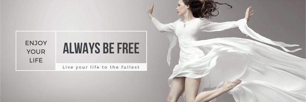 Inspiration Quote Woman Dancer Jumping — Crear un diseño