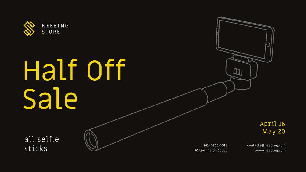Gadgets Sale with Smartphone and monopod — Создать дизайн