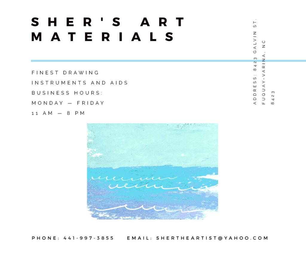 Art Material Store ad with Sea Landscape — Створити дизайн