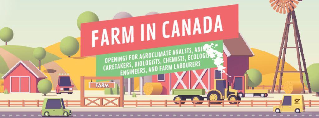Cars driving by farm barn — ein Design erstellen