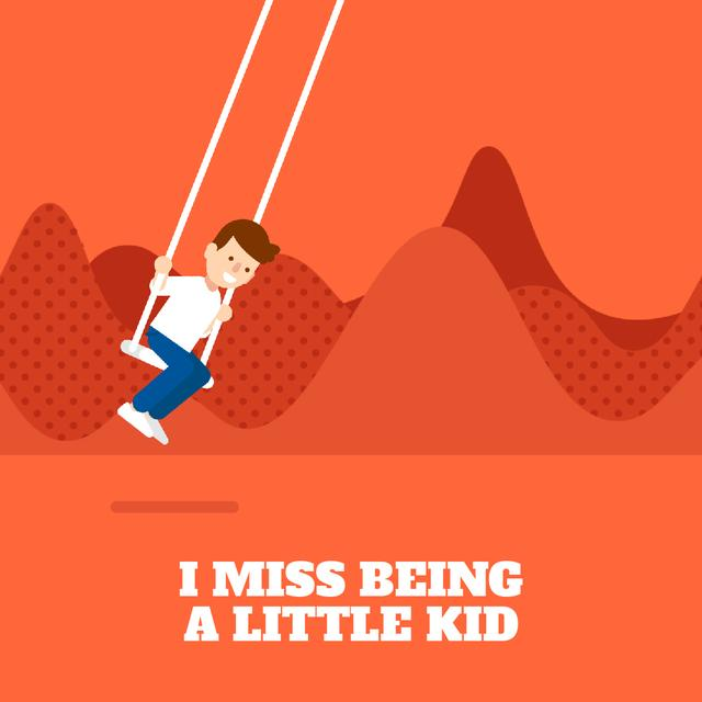 Template di design Happy boy on a Swing Animated Post