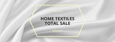Home Textiles ad White Silk Facebook cover – шаблон для дизайна