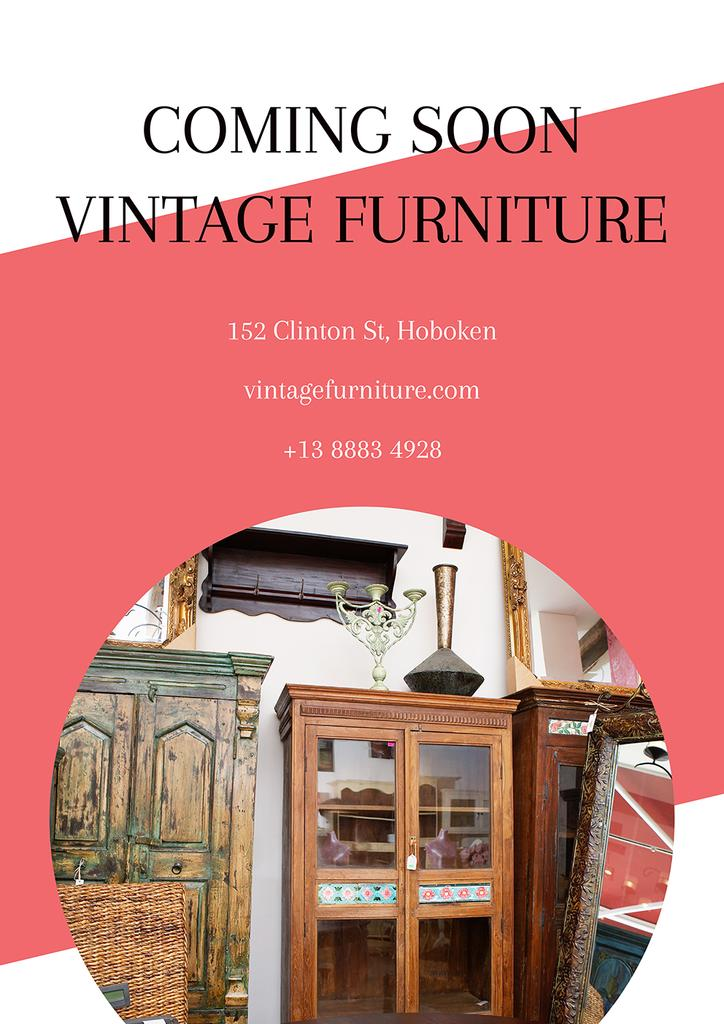 Vintage furniture shop Opening — Crear un diseño
