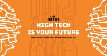 Technology trends with arrows on Orange