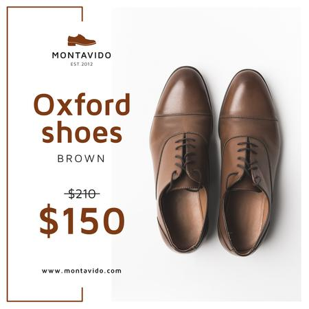 Designvorlage Fashion Sale Stylish Male Shoes für Instagram