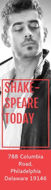 Theater Invitation Actor in Shakespeare's Performance Skyscraper – шаблон для дизайна