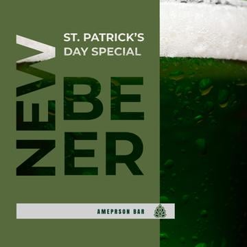 New Beer Saint Patrick's Day Special Ad