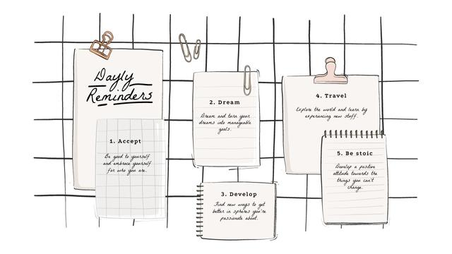 Daily inspiration Reminders Mind Map Design Template