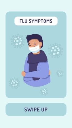 Template di design Flu symptoms with Man wearing Mask Instagram Story