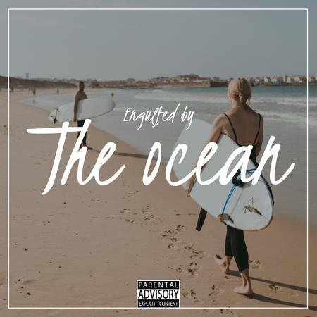 Summer Mood with Surfers at the beach Album Cover – шаблон для дизайну