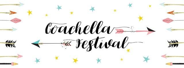 Coachella Music and Arts Festival Annoucement Facebook cover Design Template