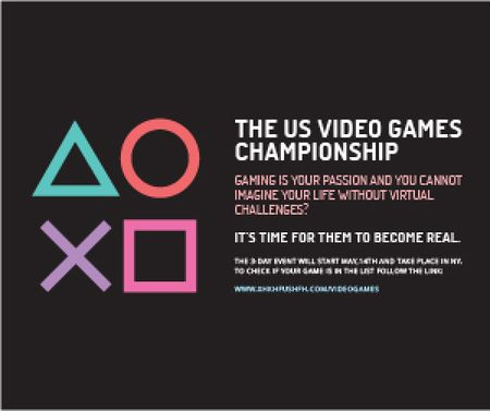 Template di design Video games Championship  Medium Rectangle