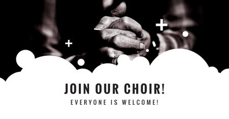 Modèle de visuel Invitation to Church Choir with Prayer - Facebook AD
