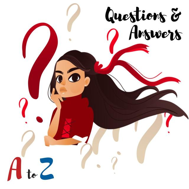 Girl with question marks Animated Post – шаблон для дизайна
