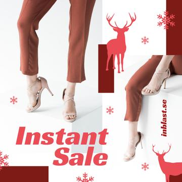 Christmas Offer Woman in Heeled Shoes