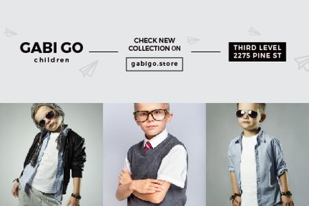 Plantilla de diseño de Children clothing store Offer Gift Certificate