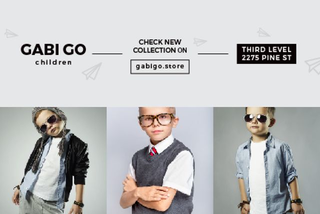Plantilla de diseño de Children clothing store Offer Gift Certificate