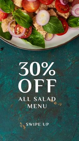 Plantilla de diseño de Healthy Italian salad Instagram Story
