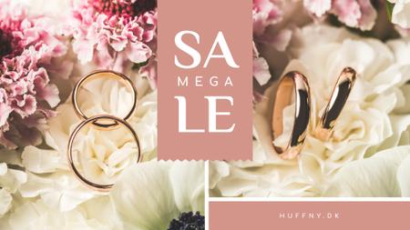 Template di design Wedding Offer Rings on Flower FB event cover