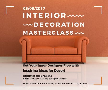 Plantilla de diseño de Interior decoration masterclass Medium Rectangle