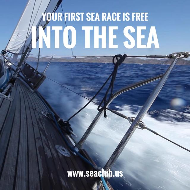Template di design Yacht sailing fast on blue sea Animated Post