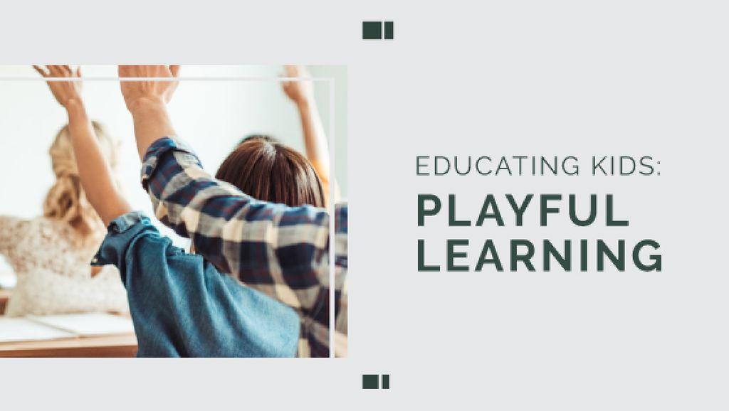 Education Program Students in Classroom — Créer un visuel
