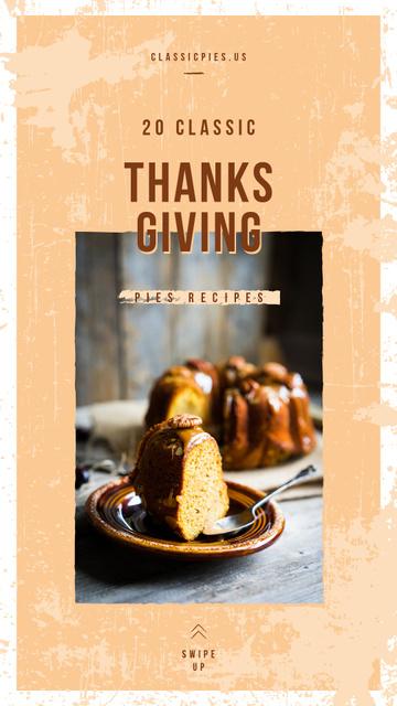 Plantilla de diseño de Baked pumpkin Thanksgiving pie Instagram Story