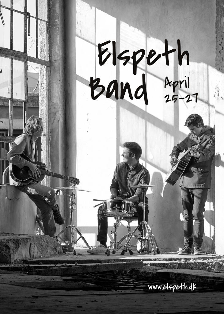 Concert Announcement Rock Band Rehearsing — Modelo de projeto