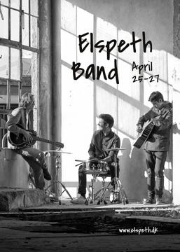 Concert Announcement Rock Band Rehearsing