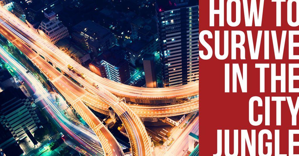 City jungle with traffic intersection — Crear un diseño