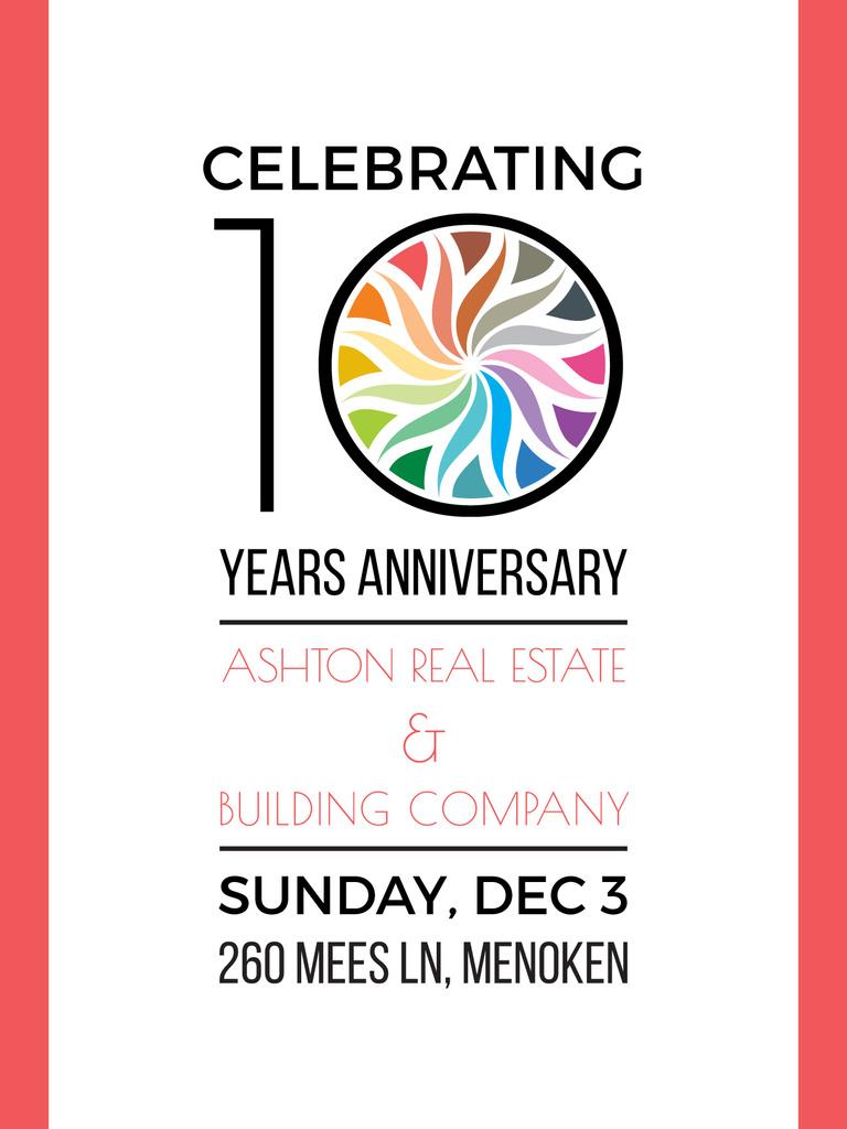 Celebrating 10 years anniversary invitation poster us template celebrating 10 years anniversary invitation design template stopboris Choice Image