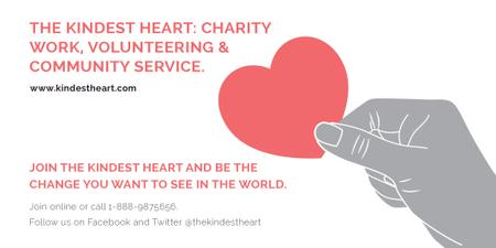 Template di design The Kindest Heart: Charity Work Twitter