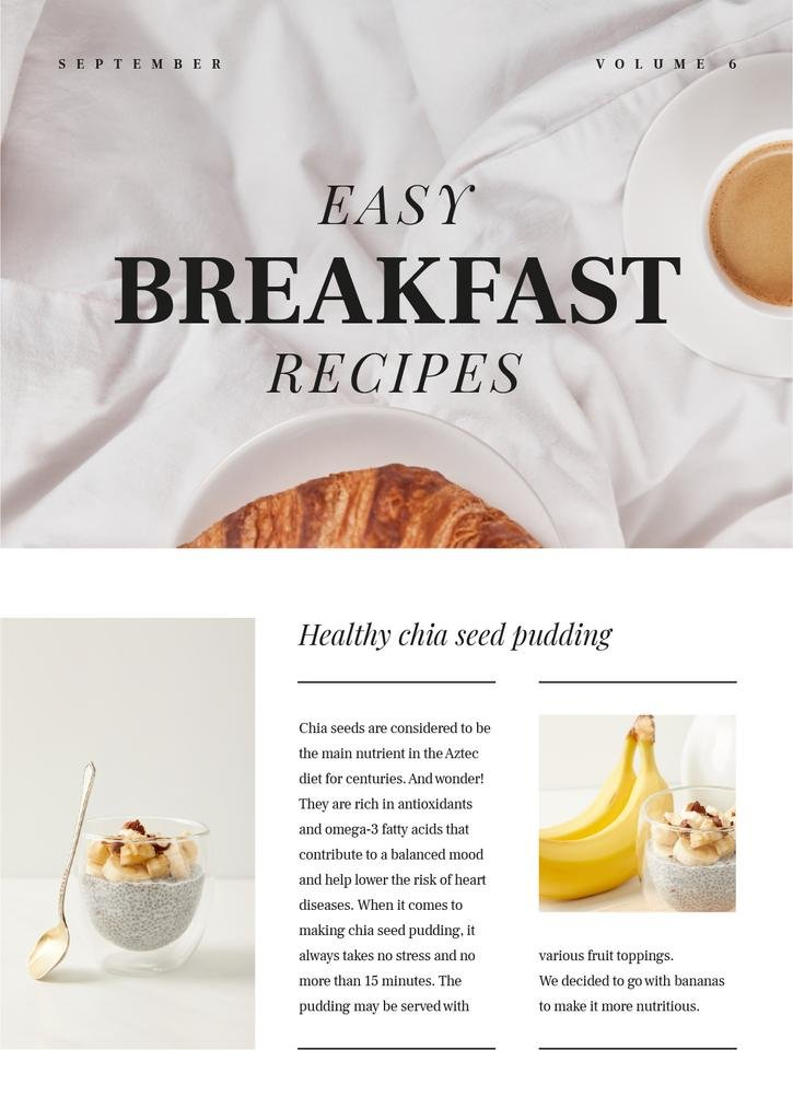 Easy Breakfast Recipes Ad — Créer un visuel