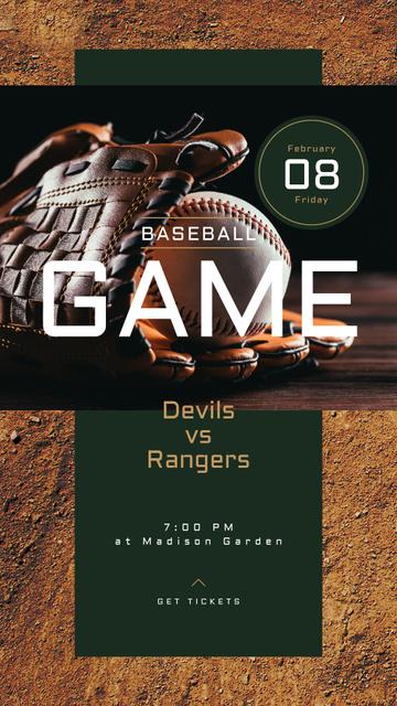 Modèle de visuel Baseball glove and ball - Instagram Story