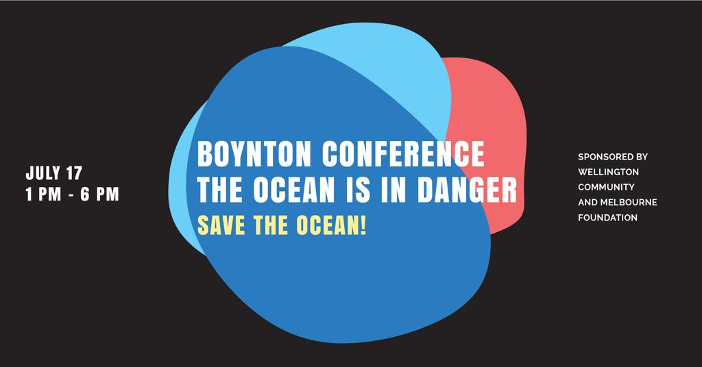 Boynton conference the ocean is in danger Facebook AD Design Template