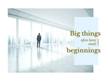 Template di design Inspiration Quote with Businessman on City Background Presentation