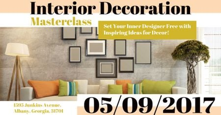 Interior decoration masterclass with Modern Room Facebook ADデザインテンプレート