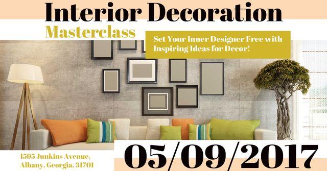 Interior decoration masterclass with Modern Room Facebook AD – шаблон для дизайну