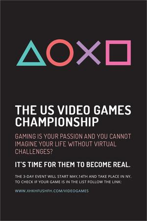 Plantilla de diseño de Video games Championship Pinterest