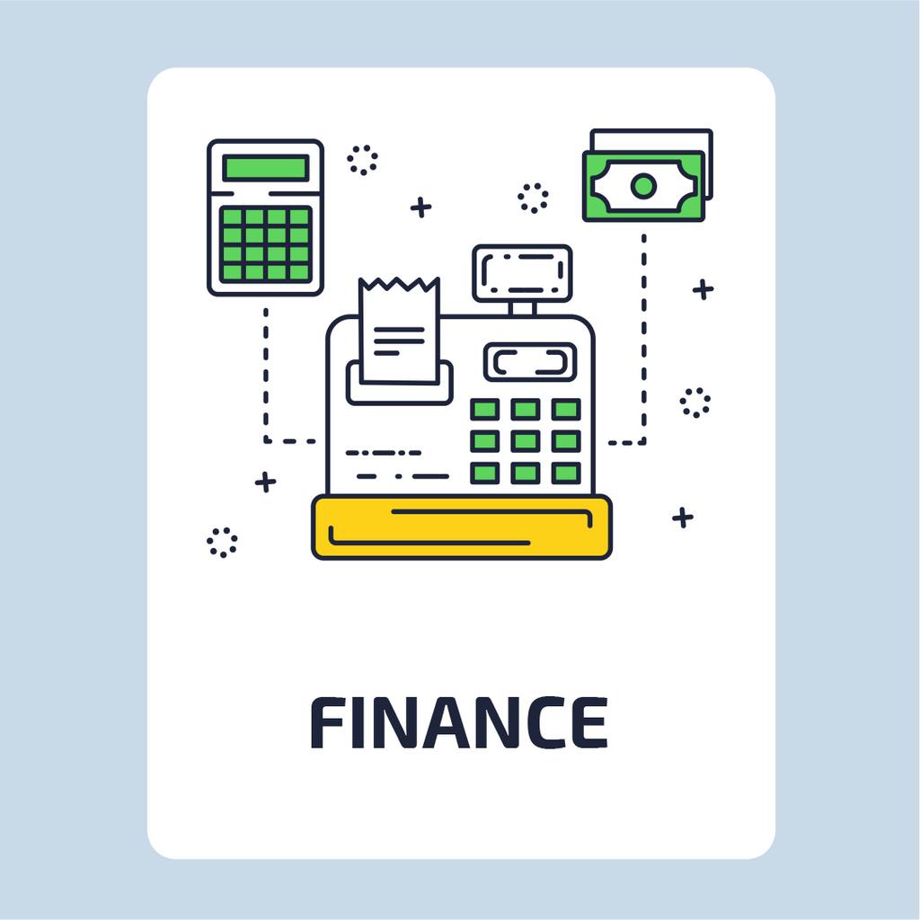 Cash register icon — Maak een ontwerp